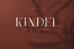 Kindel - Serif Typeface | 4 styles Product Image 1