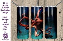 Octopus 20 oz skinny Tumbler Sublimation File Product Image 1