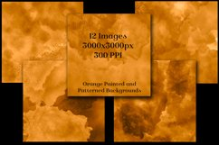 Orange Painted and Patterned Backgrounds - 12 Image Textures Product Image 2