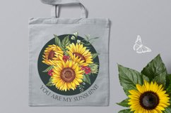 Watercolor sunflowers PNG. Product Image 6