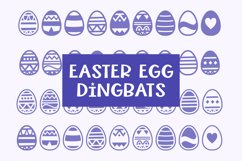 Easter Egg Dingbats - smooth cuttable easter egg doodles Product Image 1