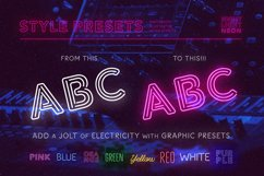 Night Light Neon Font - Inline Product Image 6