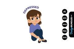 Depressed Teenage Clipart Product Image 1