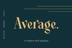 Average - Modern Serif Typeface Product Image 1
