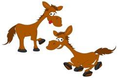 cute horse animal cartoon, simple vector illustration Product Image 1