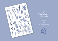 Elegant floral seamless patterns and hand drawn elements Product Image 3