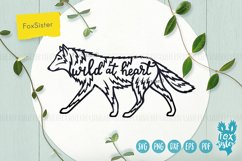 Wolf svg, Wild at heart quote svg, animal svg, Husky svg Product Image 1