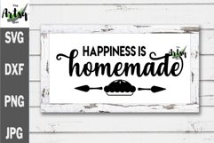 Happiness is Homemade, Noodle board svg, Noodle board decal Product Image 1