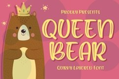 Queen Bear - Quirky Layered Font Product Image 1