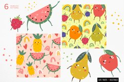 Funny fruits & vegetables, Seamless pattern. Product Image 2