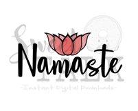 Namaste Lotus flower-svg,dxf,png,jpg, Instant Digital Download Product Image 1