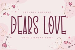 Dears Love - Cute Display Font Product Image 1