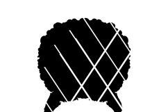 Emma SVG, Afro svg,Nubian svg,Black Woman svg,Glasses,African American SVG,Nubian svg Product Image 2