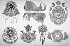 Hand Drawn Mandala & Floral Zentangle Collection Product Image 5