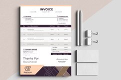 Modern Auto Calculation Invoice Template Excel Apple Numbers Product Image 4