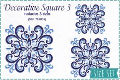 Decorative Quilt Blocks No3 Embroidery Design Product Image 1
