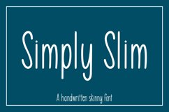 Simply Slim - A handwritten skinny font Product Image 1