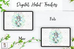 Digital Habit Trackers Y5 Yoga Series for Planner PRINTABLE Product Image 3
