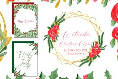 Watercolor Floral Frames Card Borders Backgrounds,Clipart Product Image 1