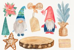 Christmas tree gnome, Holiday clip art Product Image 1