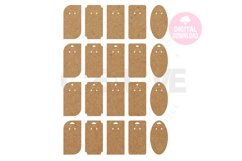 20 Templates Key Ring Display Card | Keychain card| EDC005 Product Image 1