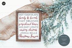 COLD SNOWFALL a Farmhouse Christmas Script Product Image 6