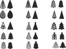 Christmas Earrings SVG, Christmas Tree SVG, Pendant Template Product Image 2