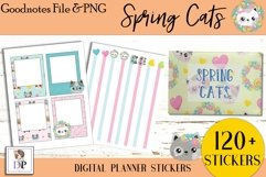 Spring Cats Digital Printable Labels Stickers Goodnotes Product Image 4