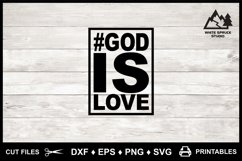 God is Love Cut File & Printable, Bible, Scripture, Jesus Product Image 5