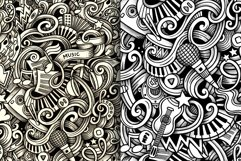 5 Music Doodles Graphics Patterns Product Image 3
