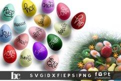 Easter SVG Bundle Easter Bundle SVG Easter Words SVG for Egg Product Image 3