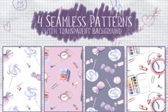 Back to school Watercolor Clipart Hand Painted Illustrations Product Image 2