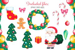 Christmas clipart set Watercolor Christmas elements Product Image 2