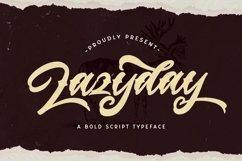 Lazyday - Bold Script Font Product Image 1