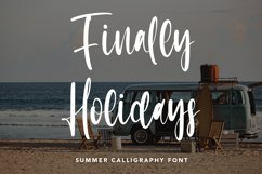 Finally Holidays - Summer Calligraphy Font Product Image 1