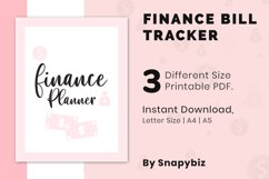 Finance Planner, Bill Tracker, Monthly Budget, Saving Track Product Image 2