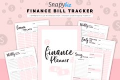 Finance Planner, Bill Tracker, Monthly Budget, Saving Track Product Image 1