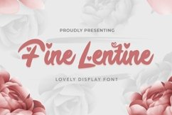 Web Font Fine Lentine - Valentines Font Product Image 1