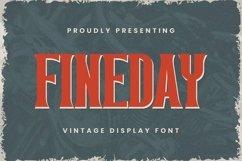 Web Font Fineday Font Product Image 1