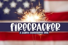 Web Font Firecracker - A Quirky Handlettered Font Product Image 1