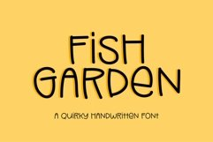 Web Font Fish Garden - a quirky handwritten font Product Image 1