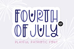 FOURTH OF JULY Font Product Image 1