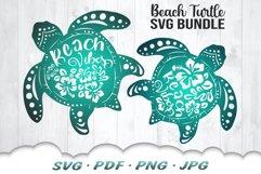 Floral Beach Vibes Sea Turtle SVG Bundle Product Image 1