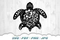 Floral Beach Vibes Sea Turtle SVG Bundle Product Image 6