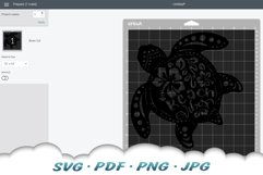 Floral Beach Vibes Sea Turtle SVG Bundle Product Image 5