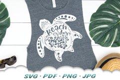 Floral Beach Vibes Sea Turtle SVG Bundle Product Image 3