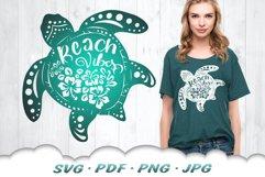 Floral Beach Vibes Sea Turtle SVG Bundle Product Image 4