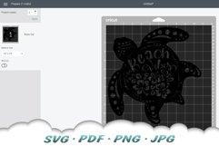 Floral Beach Vibes Sea Turtle SVG Bundle Product Image 2