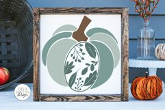 Floral Leaves Pumpkin SVG | Fall / Autumn Design Product Image 1