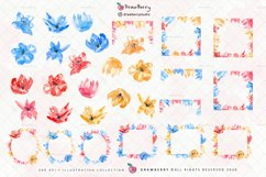 Boho Watercolor Flowers Clipart PNG | Drawberry CP026 Product Image 2